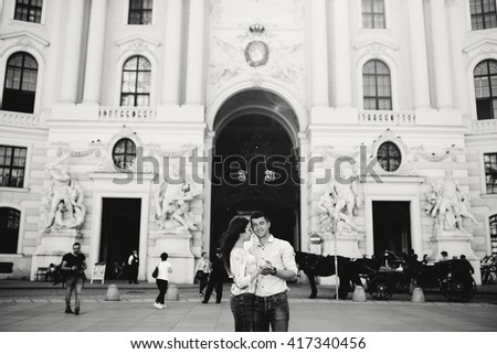 The happiest couple in love in Vienna