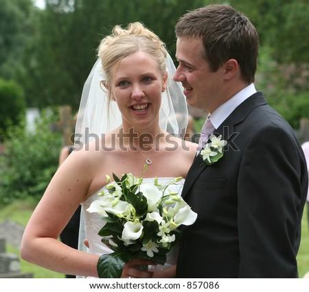 The happy couple - stock photo