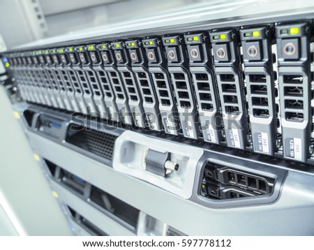 The hard drives in data center of the organization