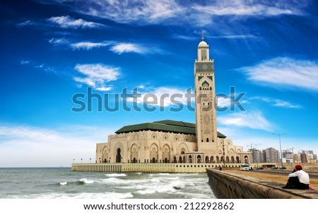 The Hassan II Mosque in Casablanca, Morocco - stock photo