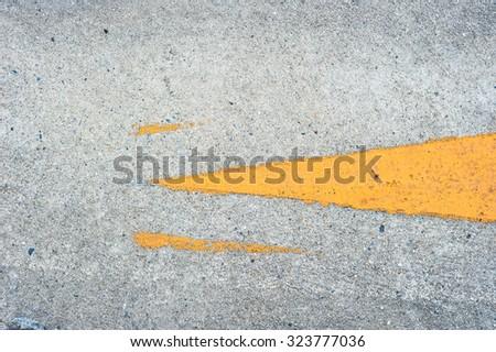 The headd Arrow on the road - stock photo