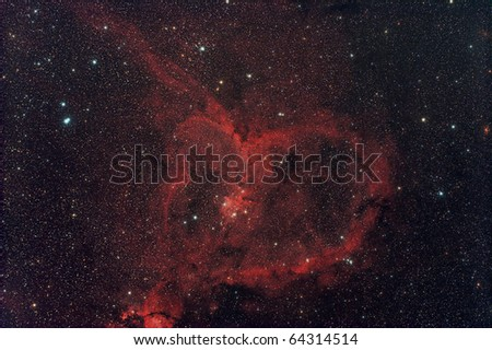 The Heart Nebula, IC 1805 - stock photo