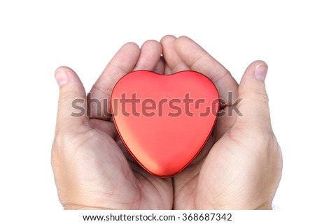 the heart on hands
