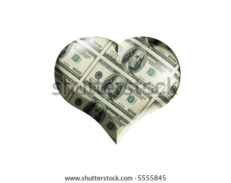 The Heart with surface colored into the dollars