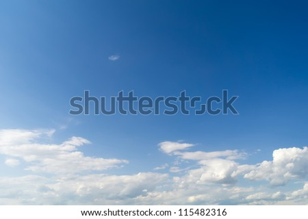 The heavenly landscape, at the left behind a shot  shines the sun. - stock photo