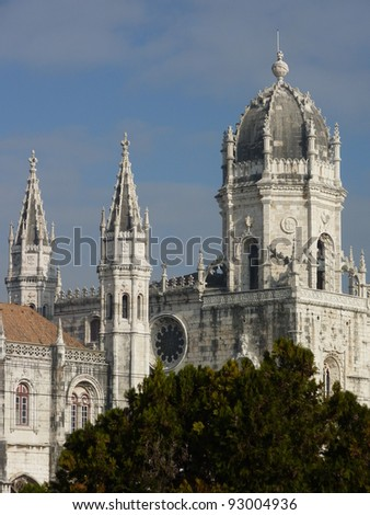 The Hieronymus monastery in Belem a district of Lisbon in Portugal