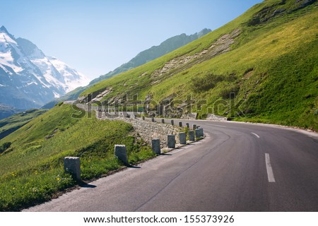 the high alpine road on Summer - Austria - stock photo