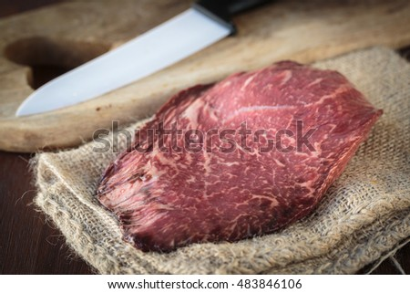 The high quality Wagyu meat from Japan