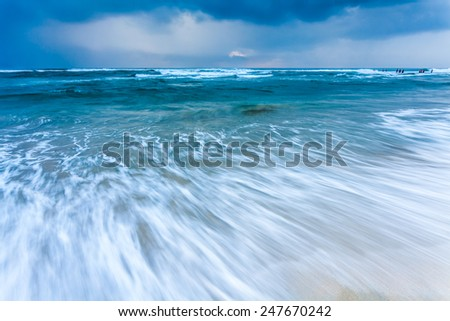 The high tide of close-up - stock photo
