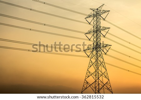 The high voltage pole.