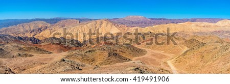 The hiking in Eilat mountains is the best attraction for those, who likes to enjoy the nature's beauty, Israel.