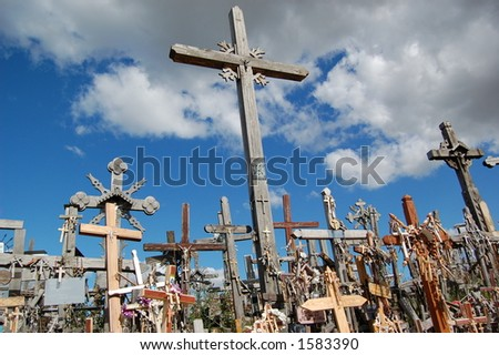 The Hill of Crosses - stock photo