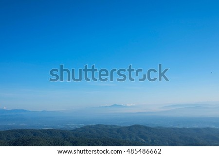 the hill of the mountain with clear blue sky