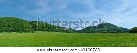 The hills - stock photo