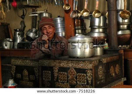 The Himalayas interiors - stock photo