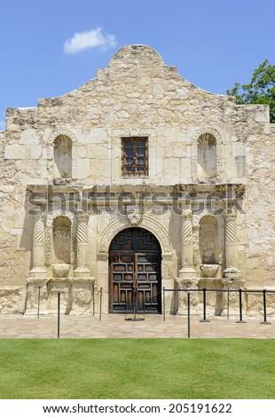 The historic Alamo in San Antonio, Texas, USA - stock photo
