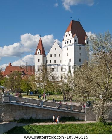 The historic castle of Ingolstadt in Bavaria - stock photo