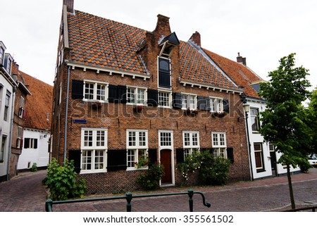 The historic city of Amersfoort in The Netherlands