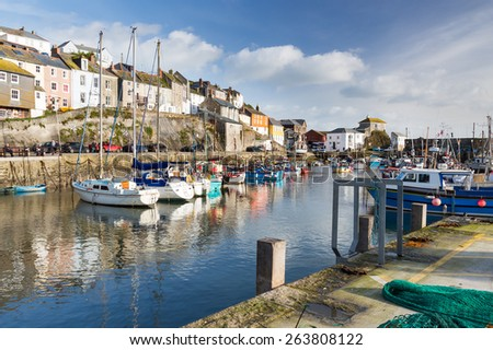 The historic harbour at Mevagissey on the South Coast of Cornwall England UK Europe - stock photo