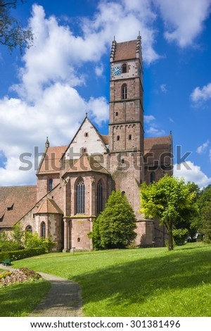 The historic monastery church in Alpirsbach in the Black Forest, Baden-Wurttemberg , Germany, Europe