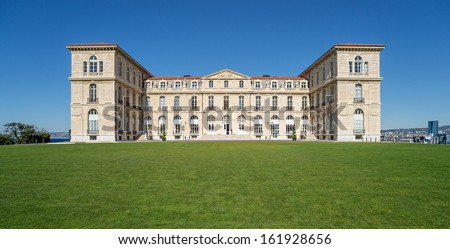 """The historic palace """"Villa Pharo"""" of Marseille in South France - stock photo"""