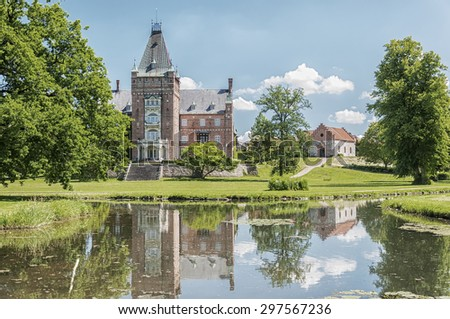 The historic Trollenas castle situated near to the swedish town of Ekeby. - stock photo