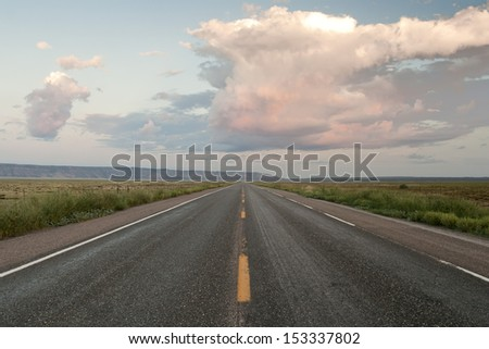 The historic U.S. Route 66, Arizona - stock photo
