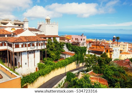 the historical center of La Orotava town, Tenerife Island, Spain