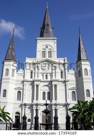 The historical St.Louis Cathedral in New Orleans, Louisiana. - stock photo
