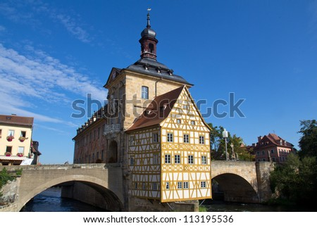 The historical town hall of Bamberg - stock photo