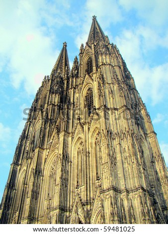 The Hohe Domkirche St. Peter und Maria (Cologne Cathedral), a Roman Catholic church part of the UNESCO World Heritage List. Cologne, Germany. - stock photo