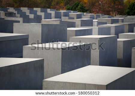 The Holocaust Memorial in Berlin, Germany.
