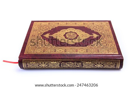 "The Holy Book Quran ""Qur'an"" Isolated"