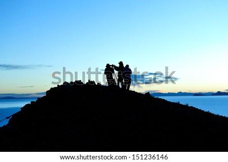 The holy lake Namtso - stock photo