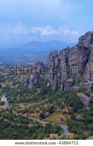 The Holy Monastery of St. Nicholas Anapausas, Meteora, Thessaly, Greece