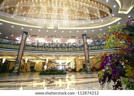 The hotel lobby interiors - stock photo