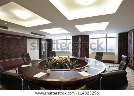 The hotel's conference room interiors  - stock photo