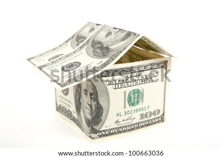The house made of banknotes - stock photo