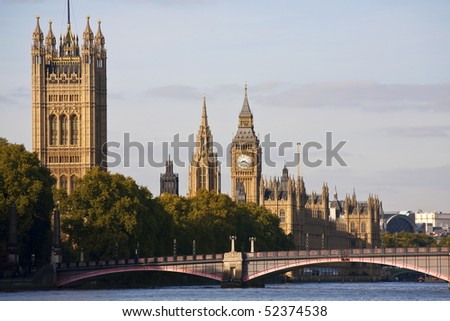 The Houses of Parliament, London, England, UK - stock photo