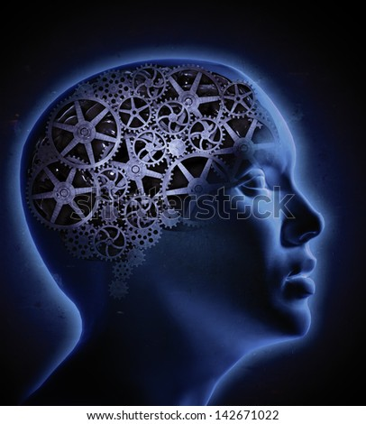 The human cognition concept illustration - stock photo