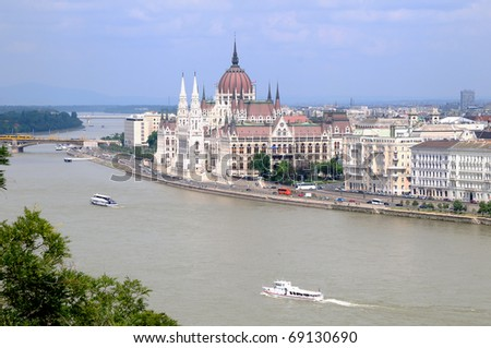 The Hungarian Parliament Building (Budapest) - stock photo