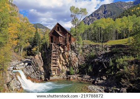 The iconic Crystal Mill near Marble, Colorado, USA. - stock photo