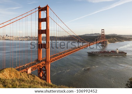 The iconic Golden Gate Bridge, California, USA - stock photo