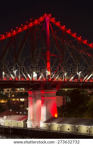 The iconic Story Bridge in Brisbane, Queensland, Australia