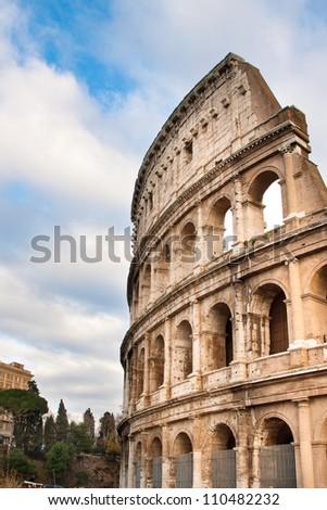 The Iconic, the legendary Coliseum of Rome, Italy - stock photo