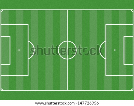the illustrator image of the field soccer - stock photo