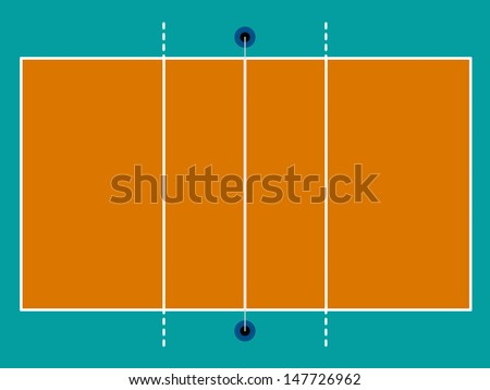 the image model of the volleyball field - stock photo