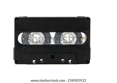 The image of a audio cassette - stock photo