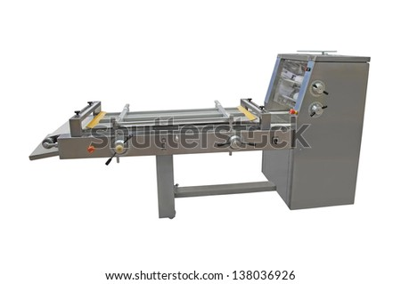 The image of a bakery machine