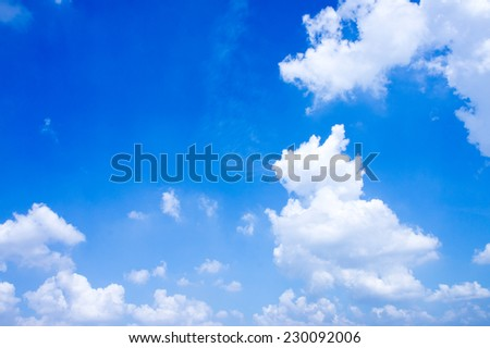 The image of a beautiful blue sky and clouds